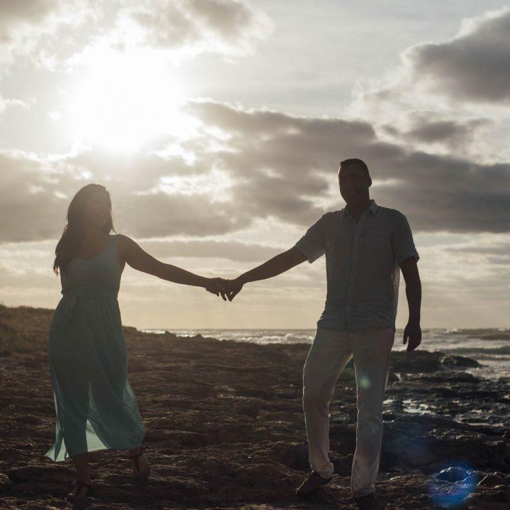 Preboda Helena y Raúl en la playa