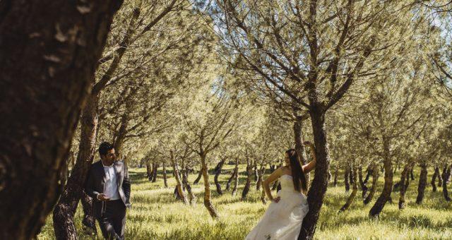 Postboda en un bosque con Fakun y Bea